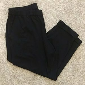 Eileen Fisher cuffed cropped black pants